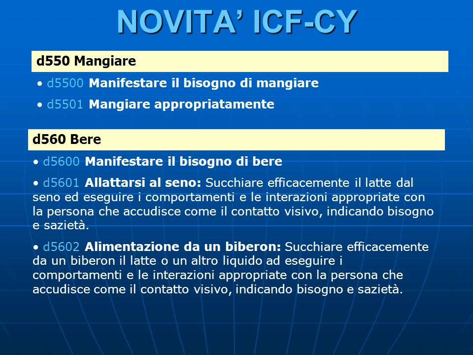 NOVITA' ICF-CY d550 Mangiare d560 Bere