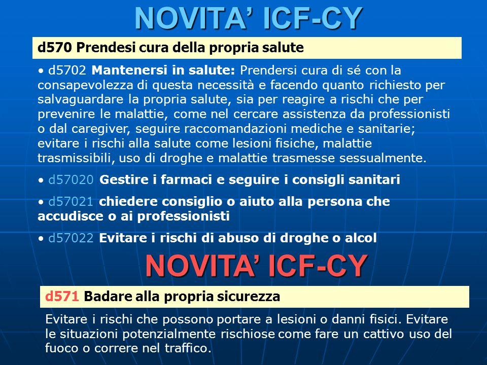 NOVITA' ICF-CY NOVITA' ICF-CY