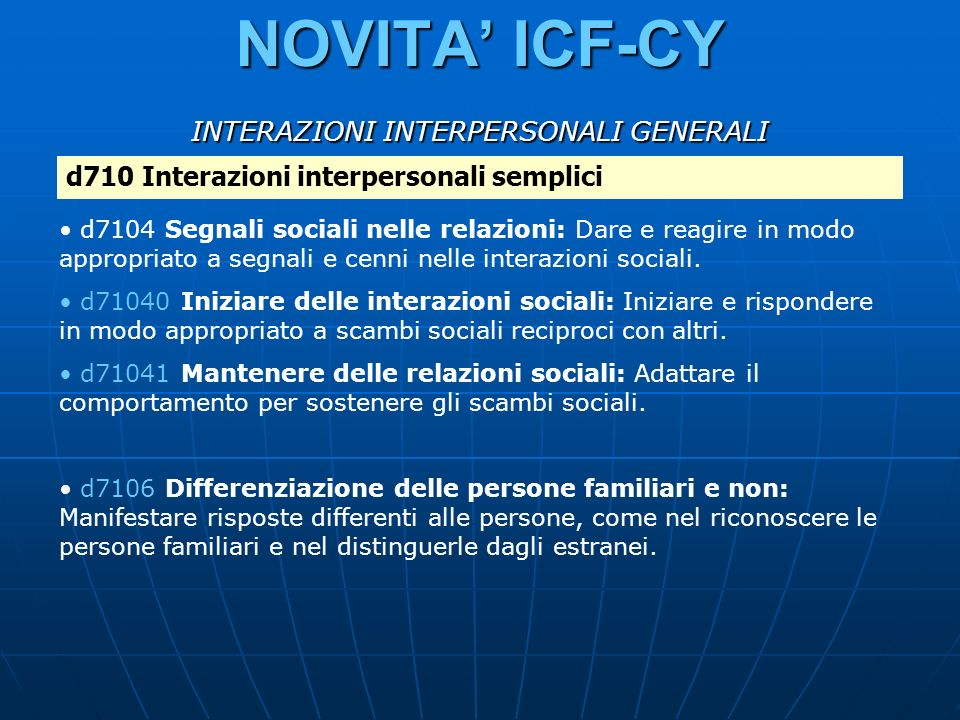 INTERAZIONI INTERPERSONALI GENERALI