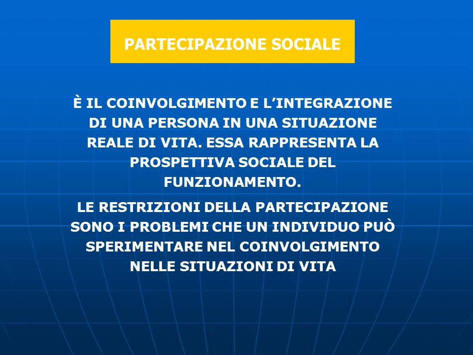 PARTECIPAZIONE SOCIALE