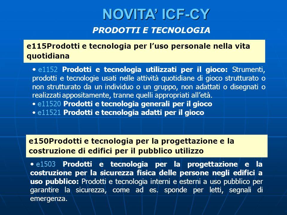 NOVITA' ICF-CY PRODOTTI E TECNOLOGIA