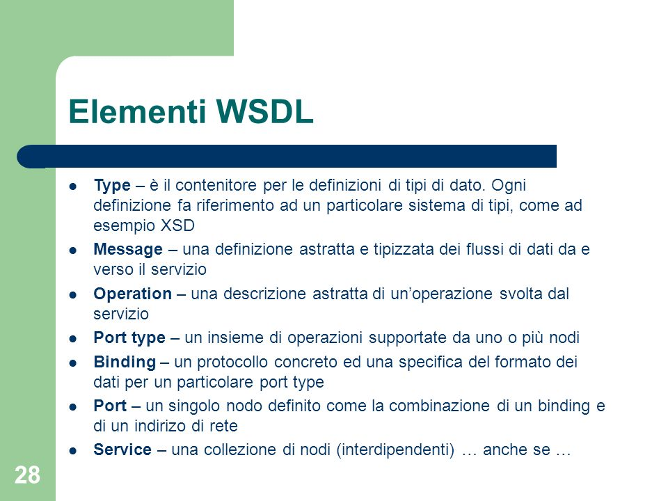 Elementi WSDL