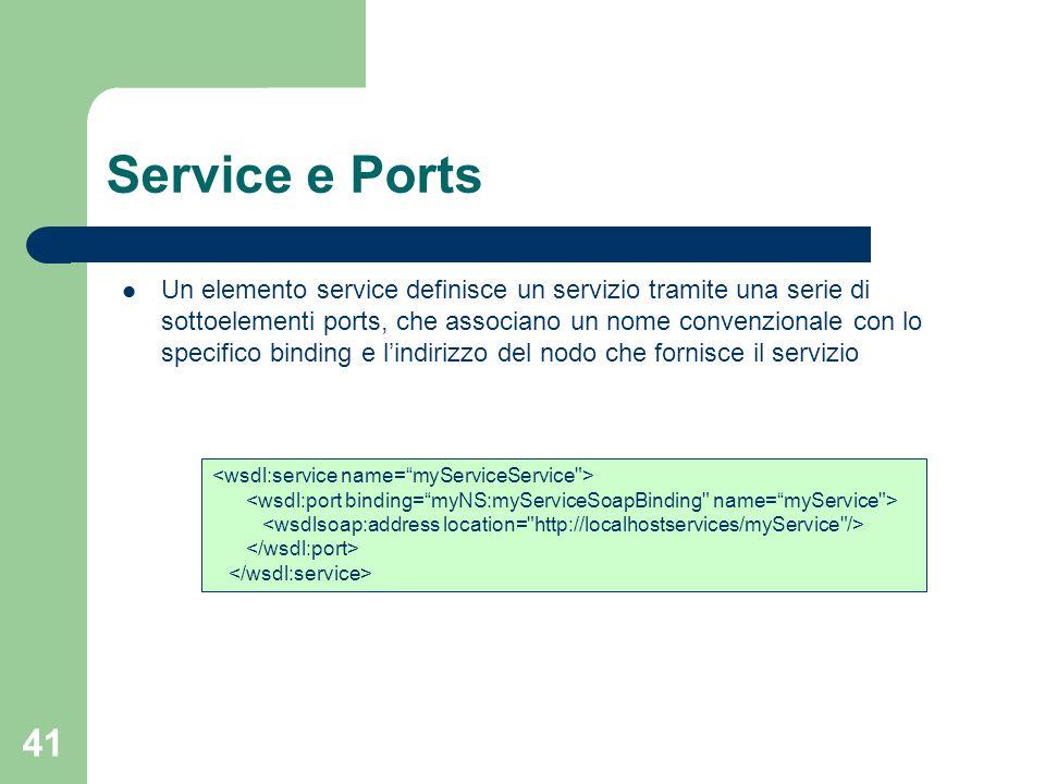Service e Ports