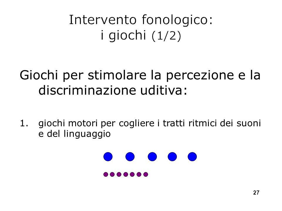 Intervento fonologico: i giochi (1/2)