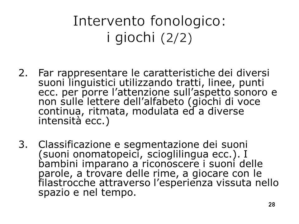 Intervento fonologico: i giochi (2/2)