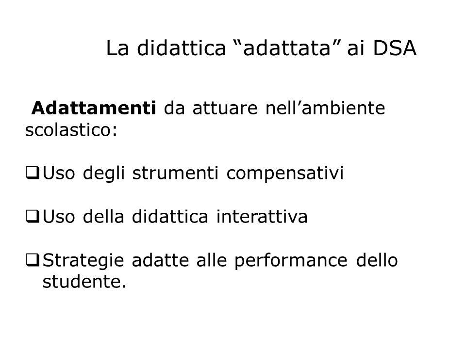 La didattica adattata ai DSA