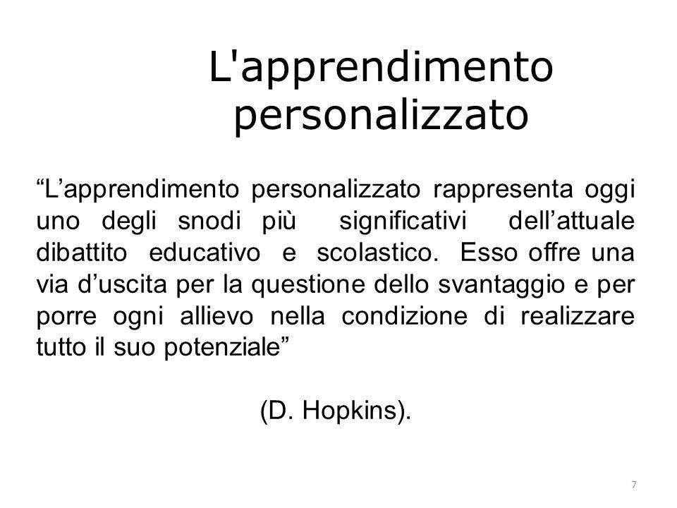 L apprendimento personalizzato