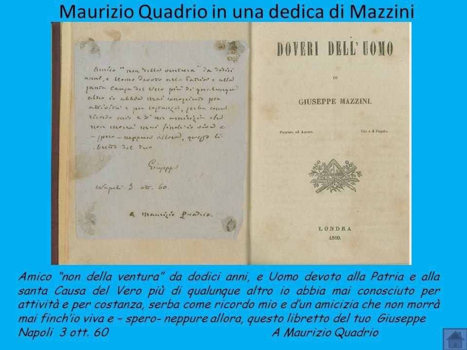Maurizio Quadrio in una dedica di Mazzini