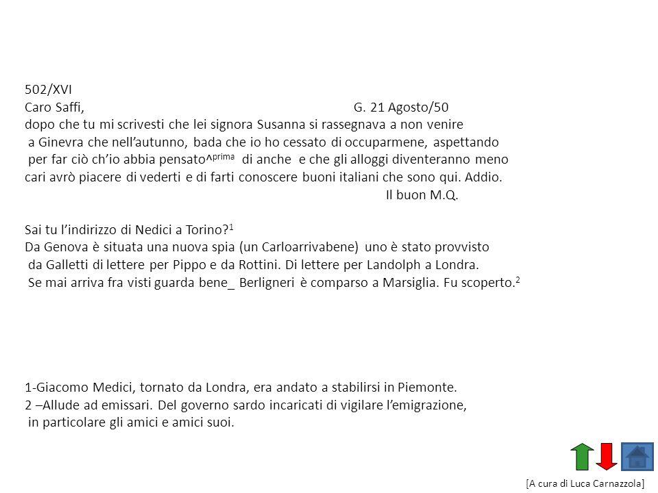 Sai tu l'indirizzo di Nedici a Torino 1