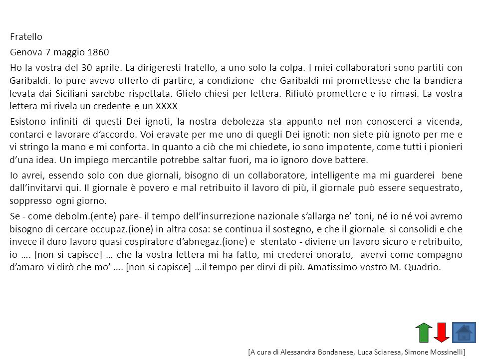 Fratello Genova 7 maggio 1860