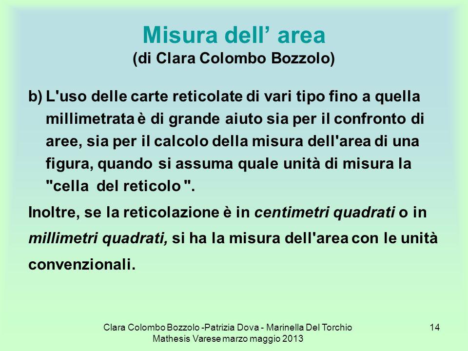 Misura dell' area (di Clara Colombo Bozzolo)