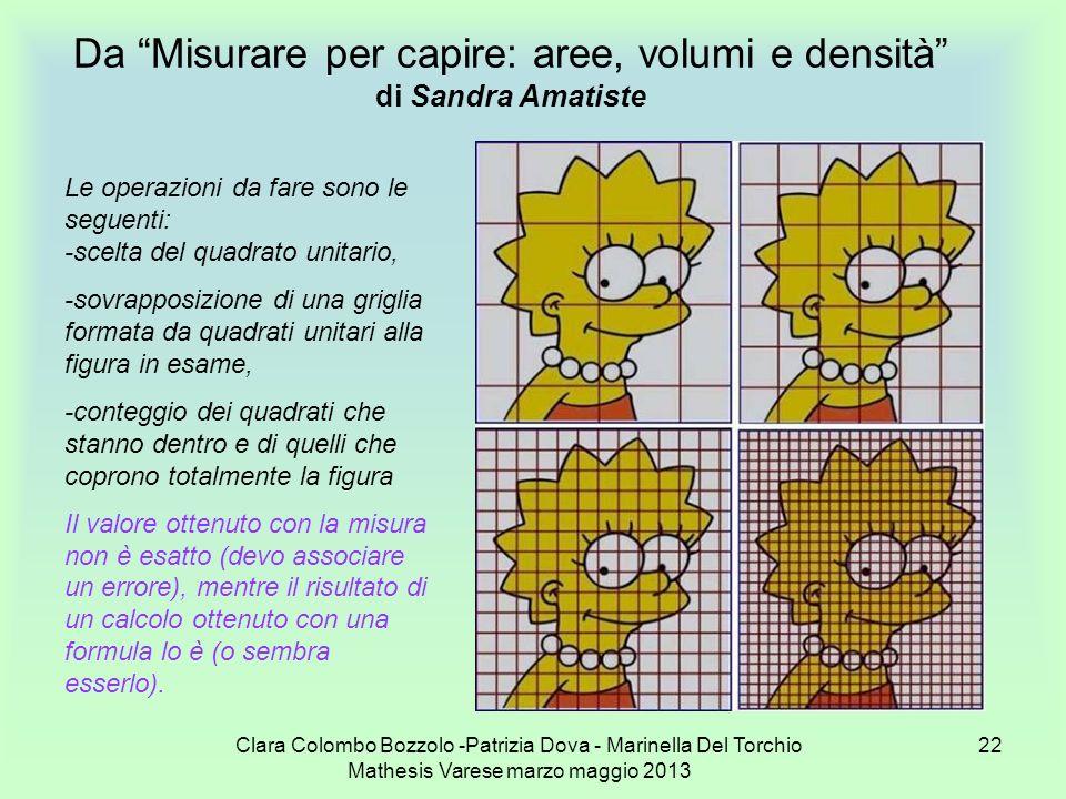 Da Misurare per capire: aree, volumi e densità di Sandra Amatiste