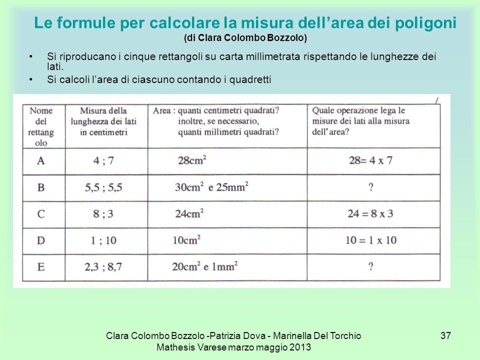 Le formule per calcolare la misura dell'area dei poligoni (di Clara Colombo Bozzolo)