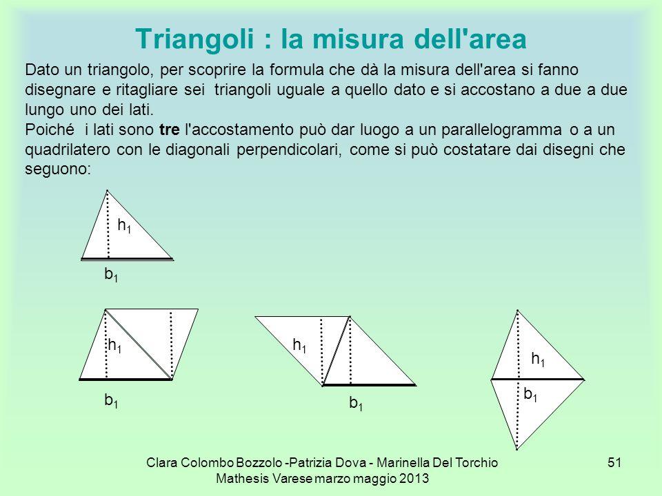 Triangoli : la misura dell area