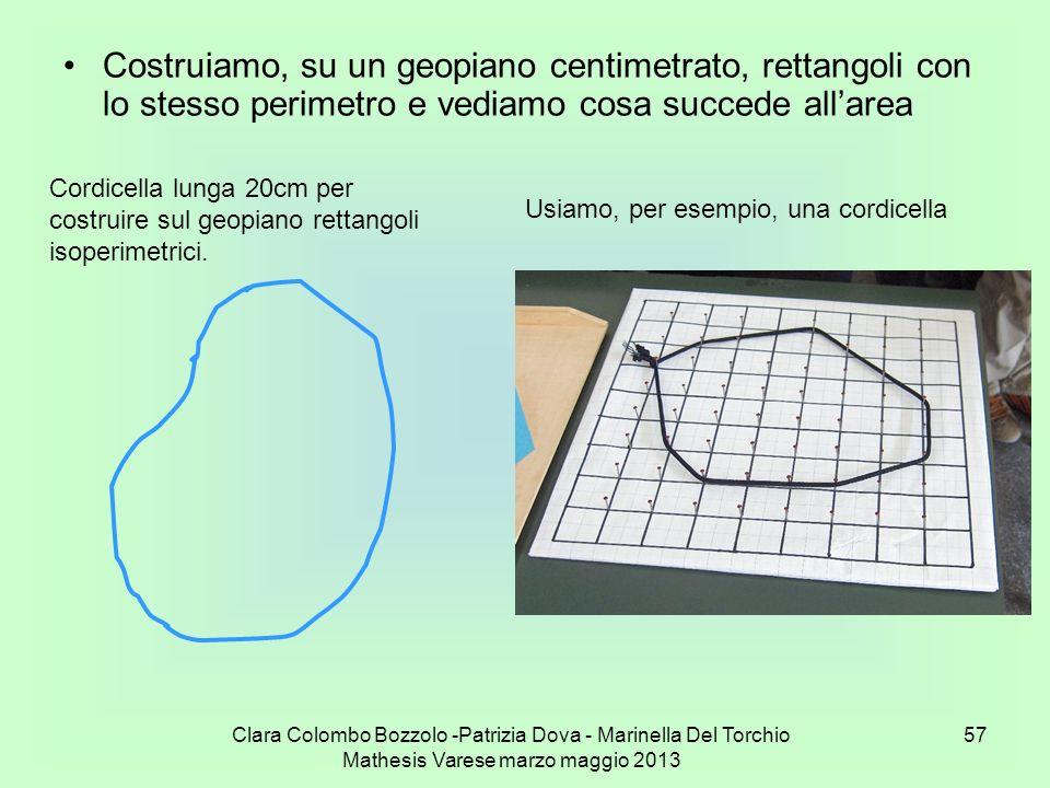 Costruiamo, su un geopiano centimetrato, rettangoli con lo stesso perimetro e vediamo cosa succede all'area