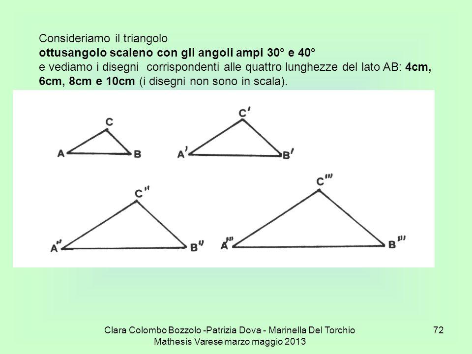 Consideriamo il triangolo