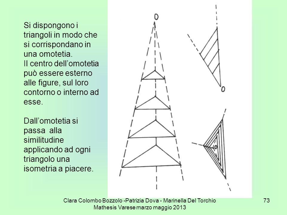 Si dispongono i triangoli in modo che si corrispondano in una omotetia.