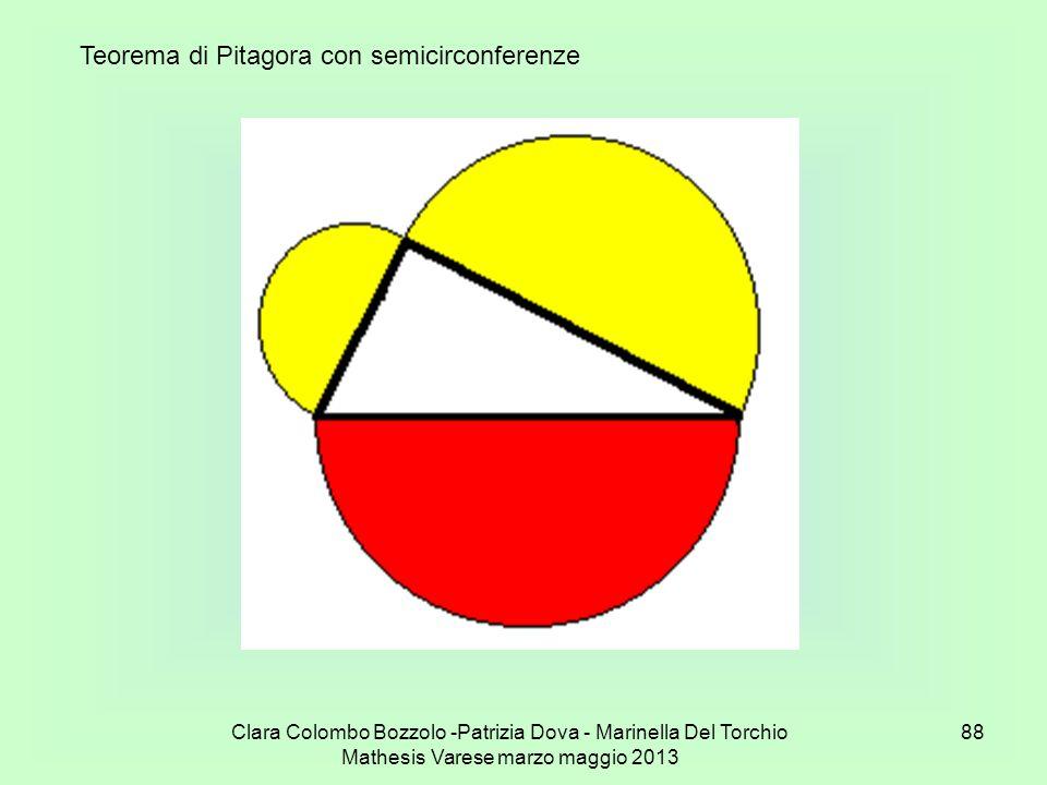 Teorema di Pitagora con semicirconferenze