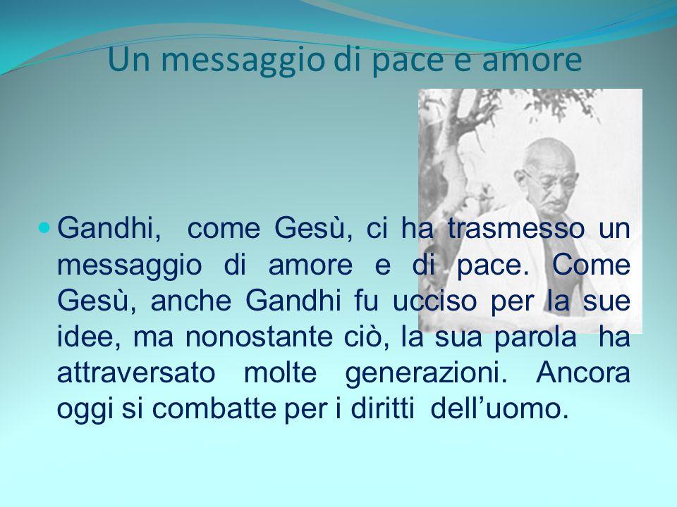 Un messaggio di pace e amore