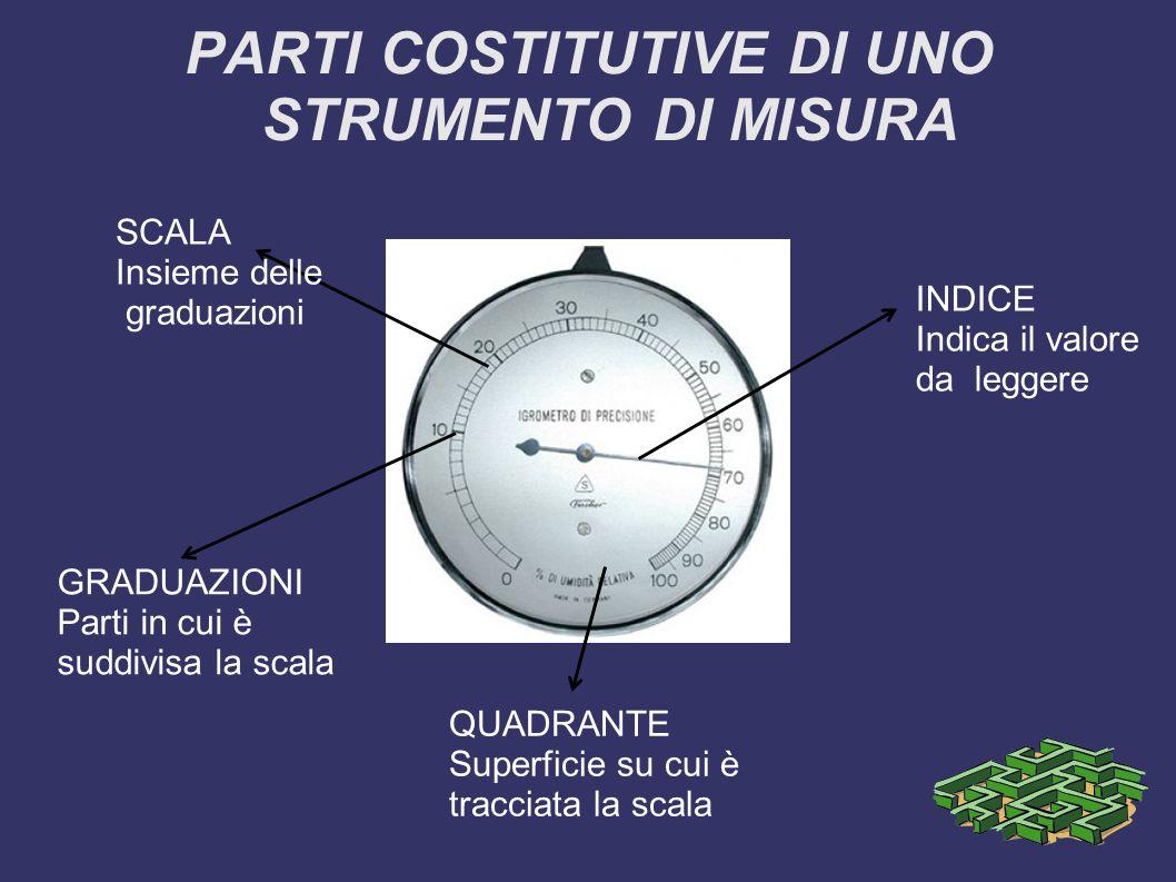 PARTI COSTITUTIVE DI UNO STRUMENTO DI MISURA