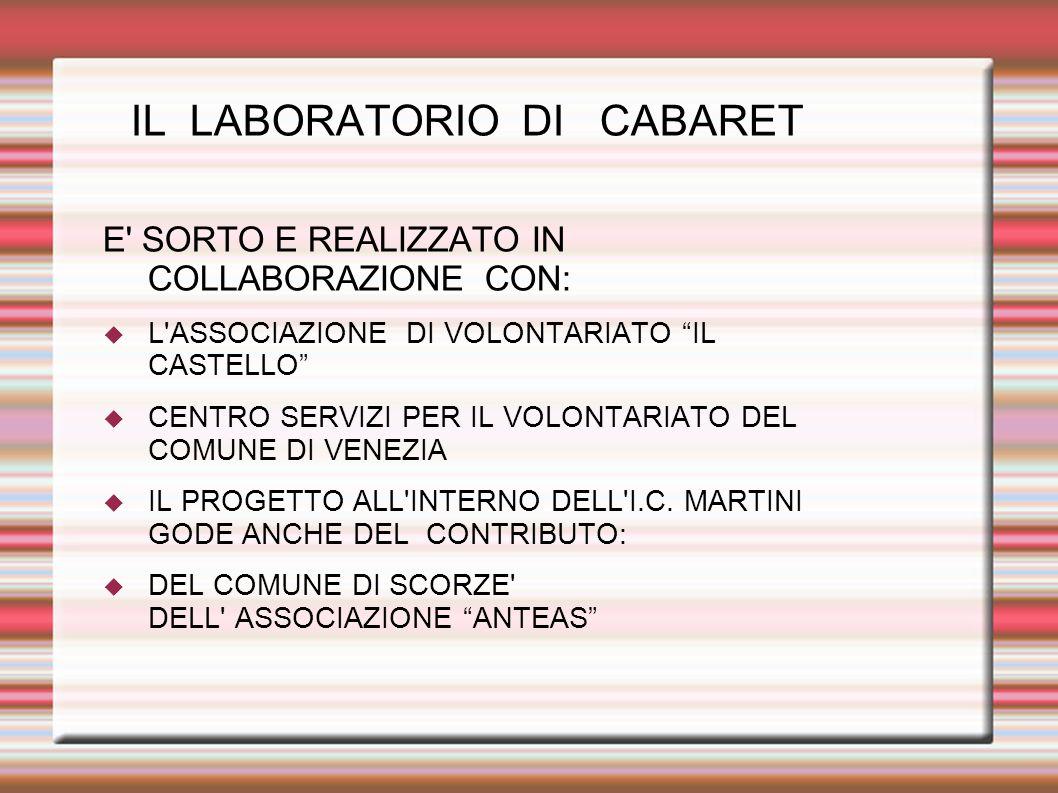 IL LABORATORIO DI CABARET