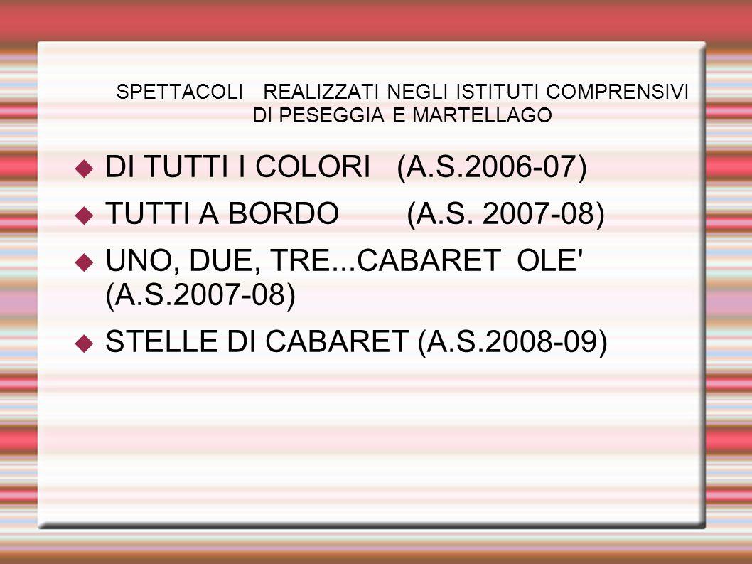 UNO, DUE, TRE...CABARET OLE (A.S.2007-08)