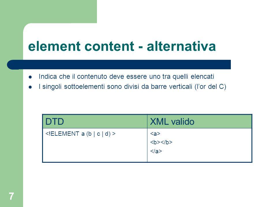 element content - alternativa
