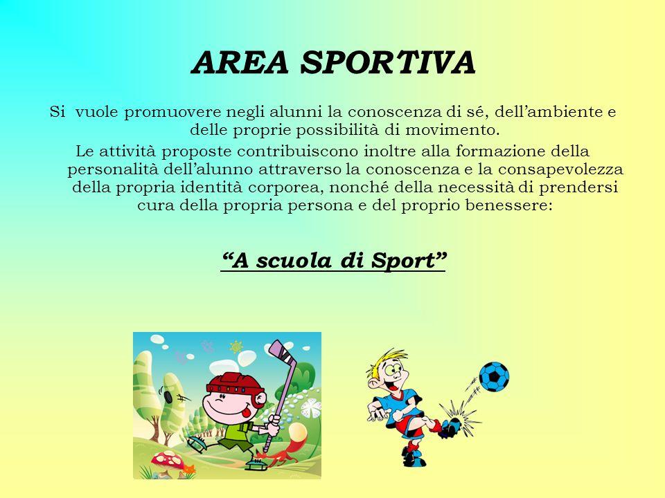 AREA SPORTIVA A scuola di Sport
