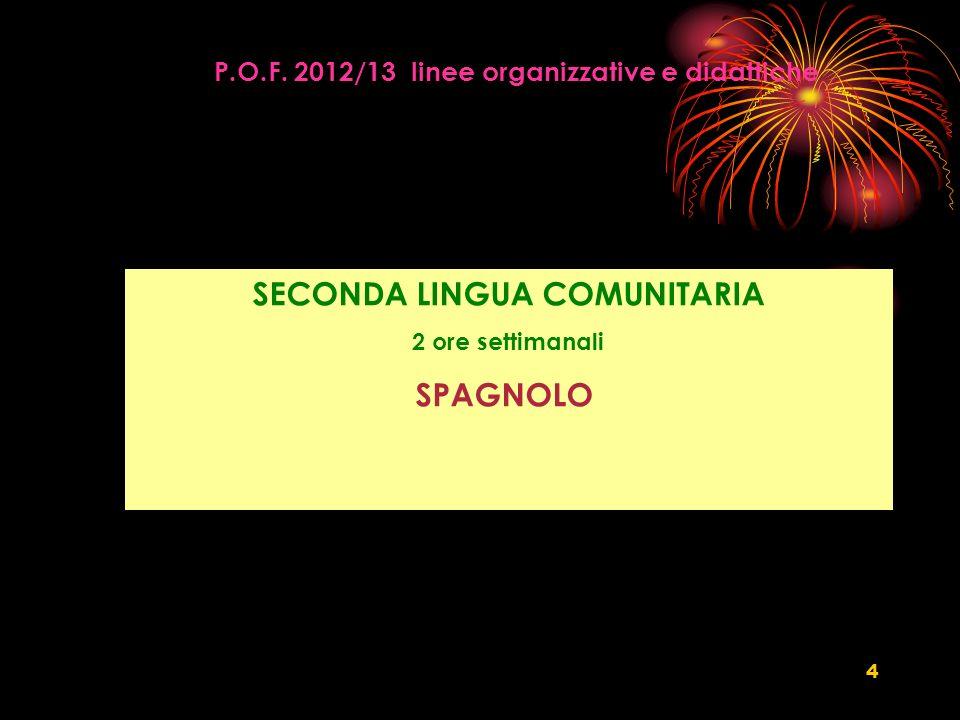 SECONDA LINGUA COMUNITARIA SPAGNOLO