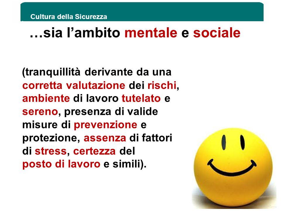 …sia l'ambito mentale e sociale