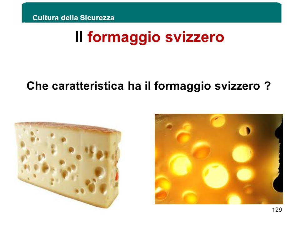Che caratteristica ha il formaggio svizzero