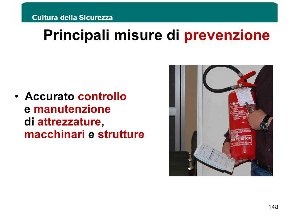 Principali misure di prevenzione