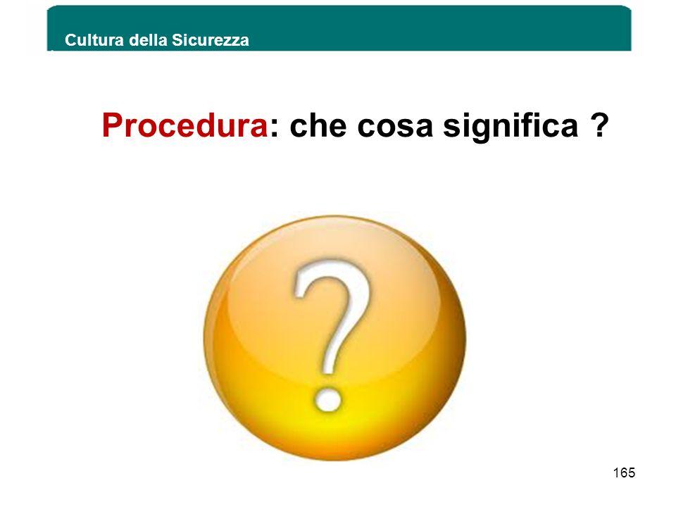 Procedura: che cosa significa