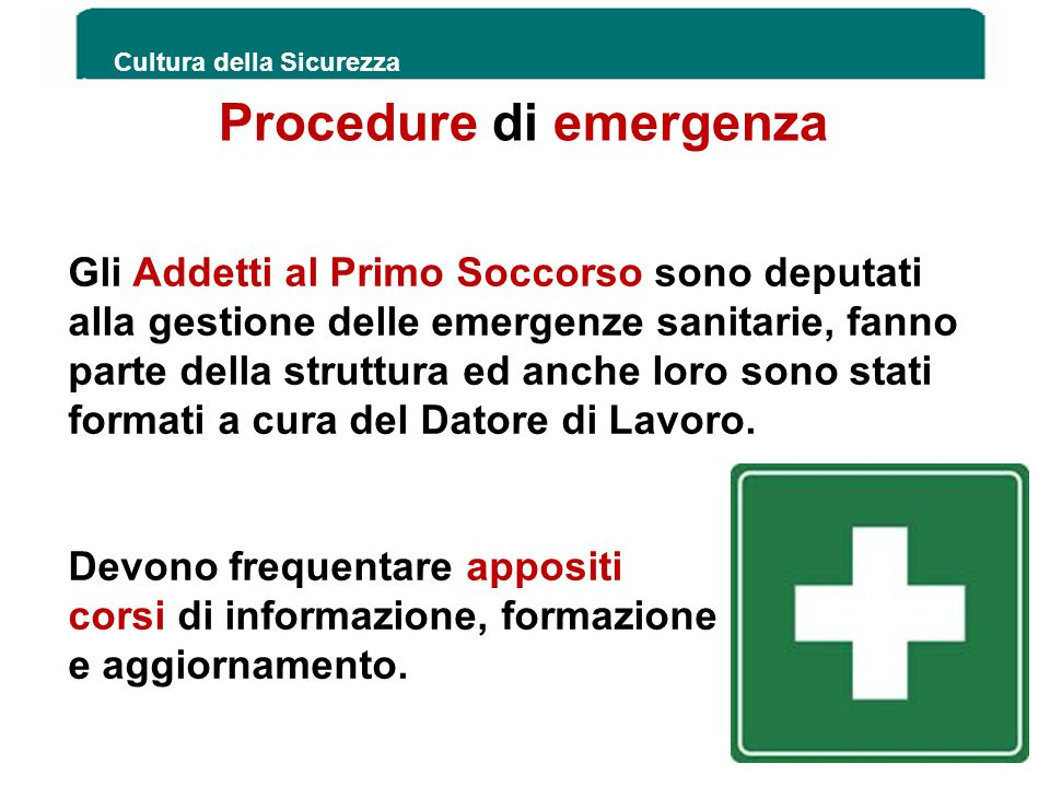 Procedure di emergenza