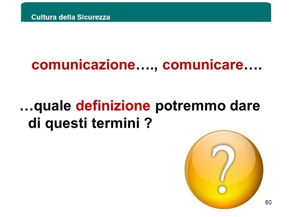 comunicazione…., comunicare….