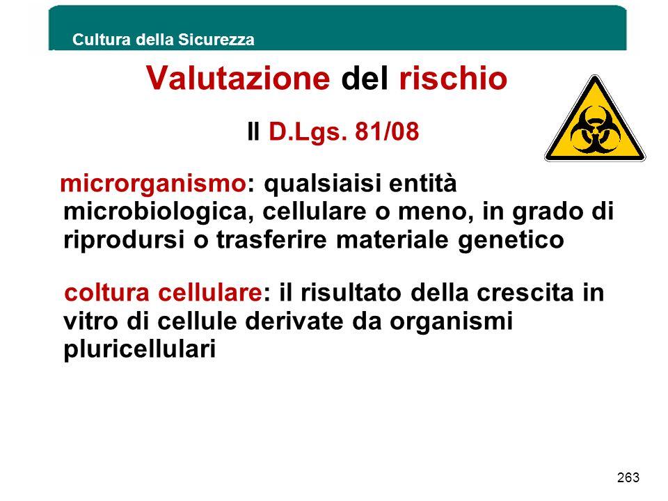 Valutazione del rischio Il D.Lgs. 81/08