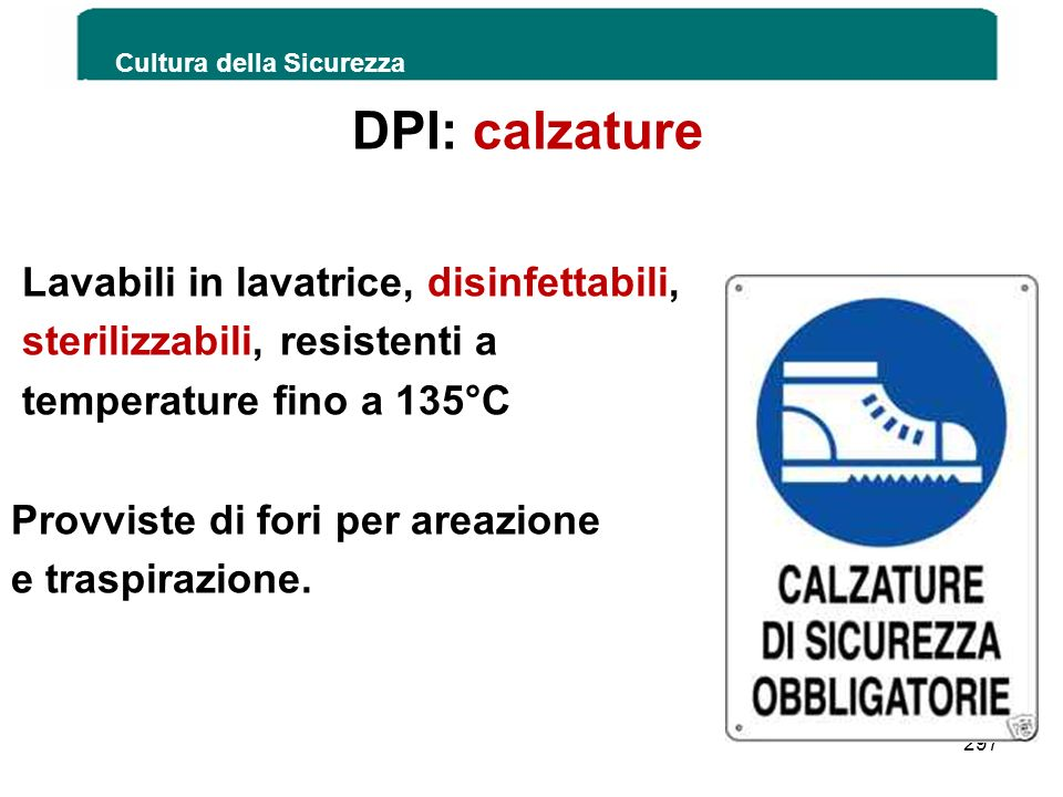 DPI: calzature Lavabili in lavatrice, disinfettabili,