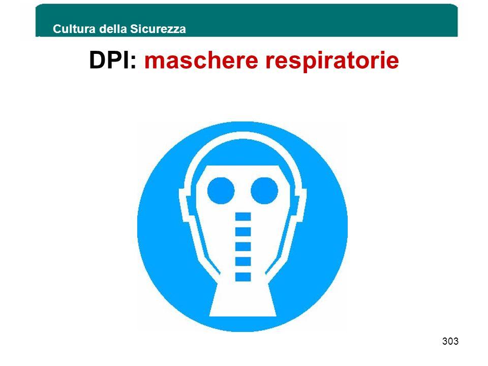 DPI: maschere respiratorie