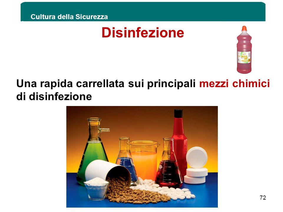 Una rapida carrellata sui principali mezzi chimici di disinfezione