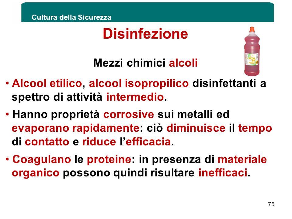Alcool etilico, alcool isopropilico disinfettanti a