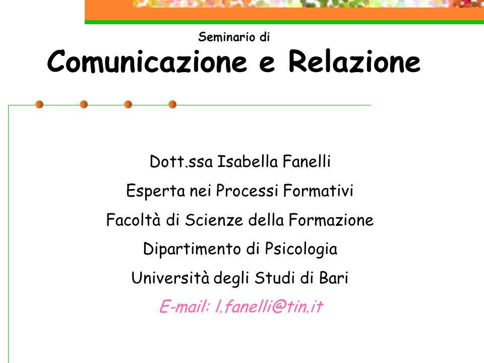 Seminario di Comunicazione e Relazione
