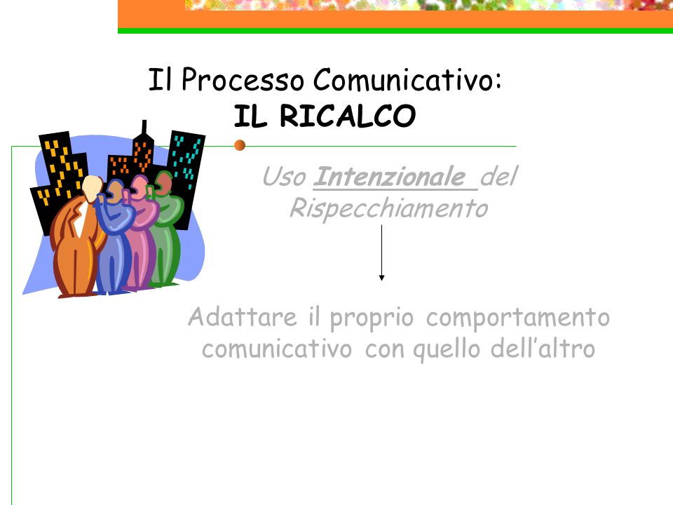 Il Processo Comunicativo: IL RICALCO