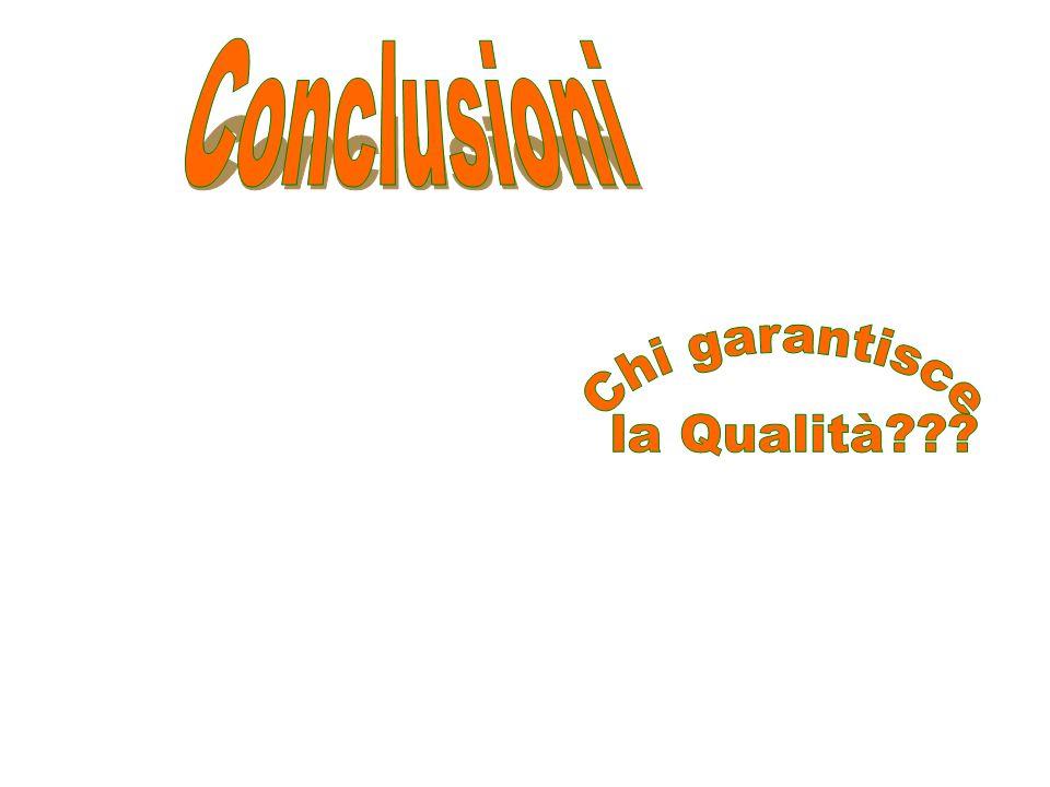 Conclusioni Chi garantisce la Qualità
