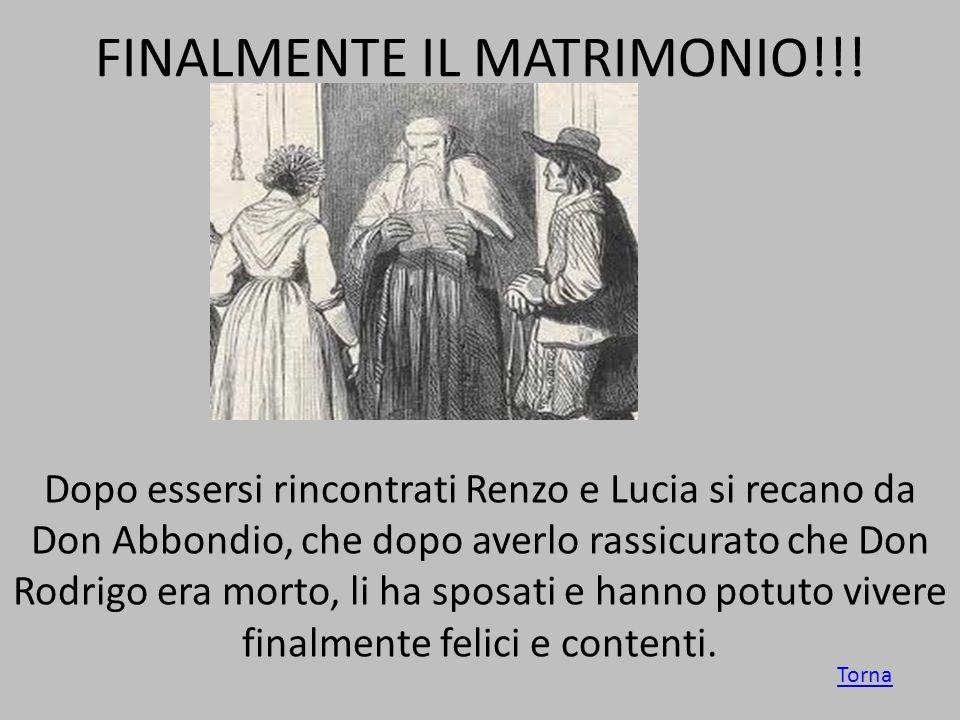FINALMENTE IL MATRIMONIO!!!