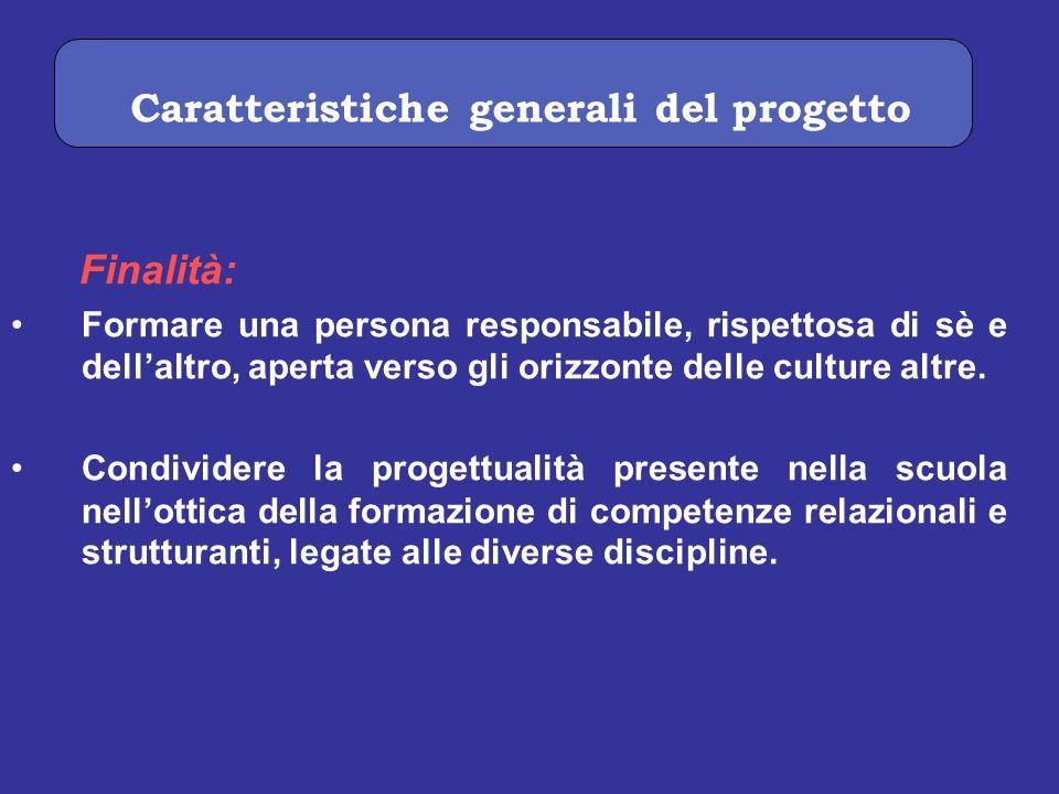 Caratteristiche generali del progetto