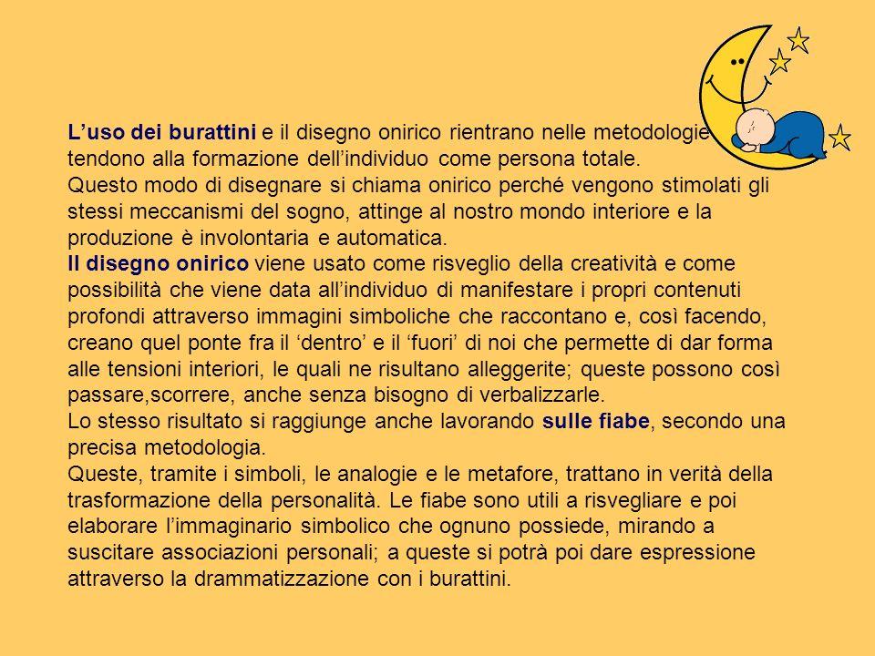 L'uso dei burattini e il disegno onirico rientrano nelle metodologie che tendono alla formazione dell'individuo come persona totale.