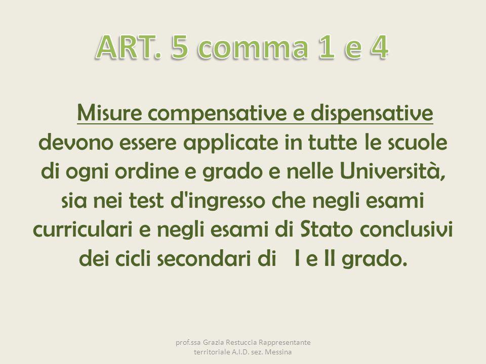 ART. 5 comma 1 e 4