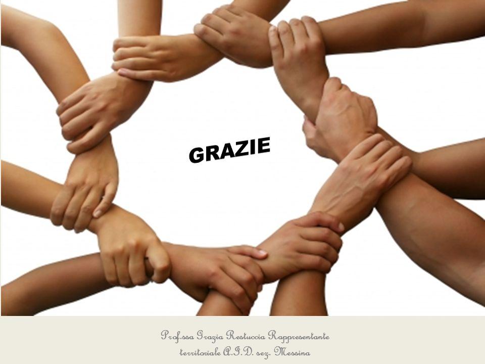 GRAZIE Prof.ssa Grazia Restuccia Rappresentante territoriale A.I.D. sez. Messina