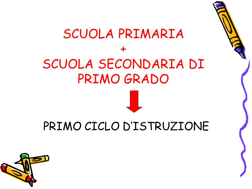 SCUOLA PRIMARIA + SCUOLA SECONDARIA DI PRIMO GRADO