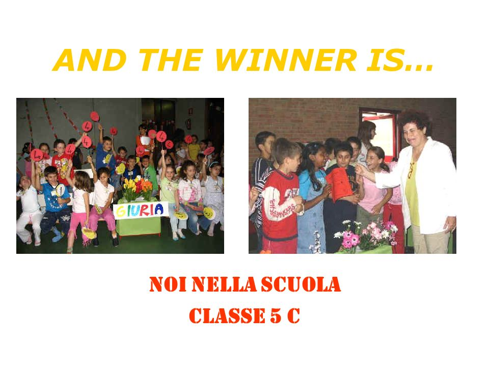 NOI NELLA SCUOLA Classe 5 C